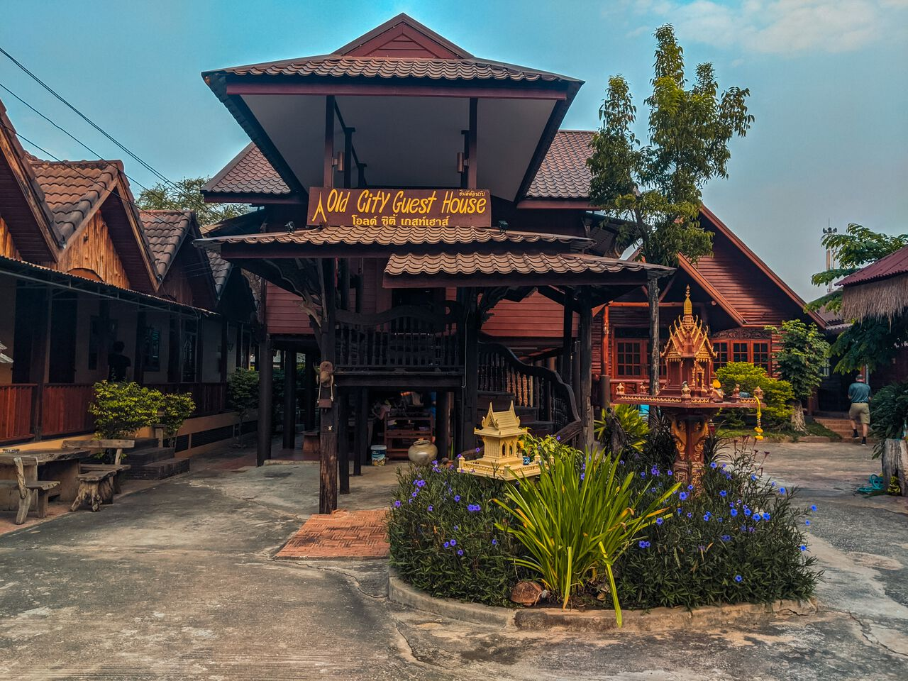 Old City Guest House exterior at Sukhothai, Thailand