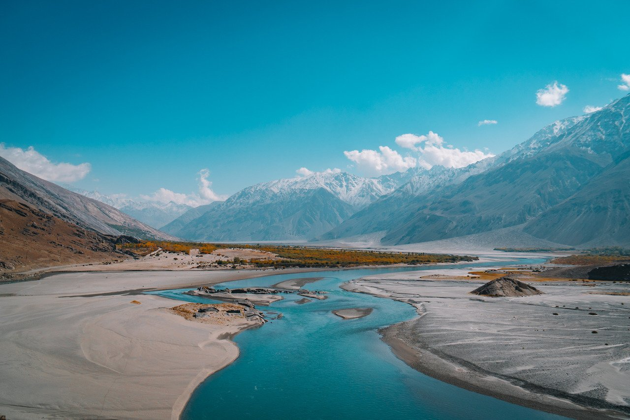 A river that runs along the Waghan Corridor and the Pamir Highway bordering Afghanistan.