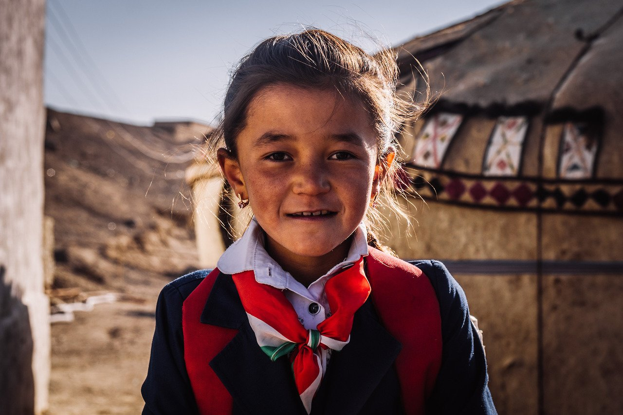 A local girl from the Pamir Highway