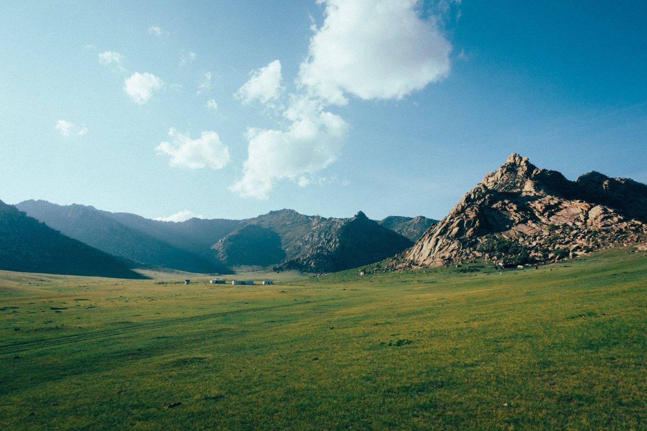 The vast grassland of Mongolia.