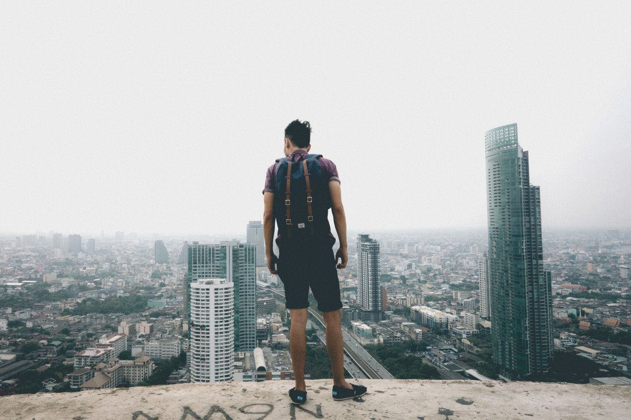 Me overlooking Bangkok's cityscape in Thailand