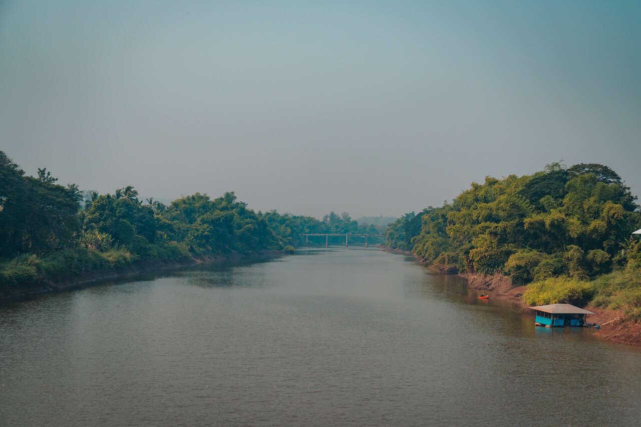Yom River in Si Satchanalai in Thailand.