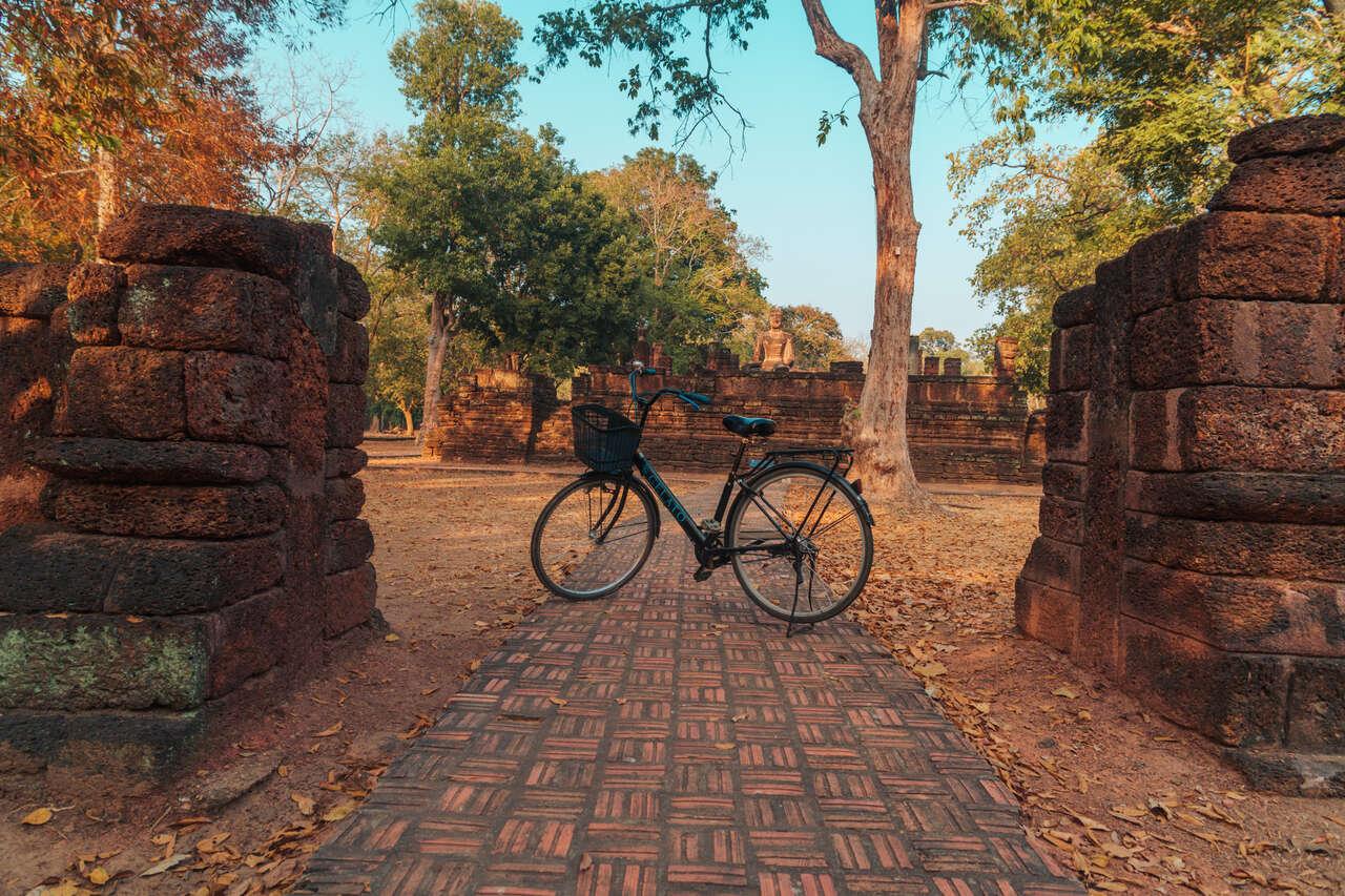 A bike I rode to explore kamphaeng Phet in Thailand.