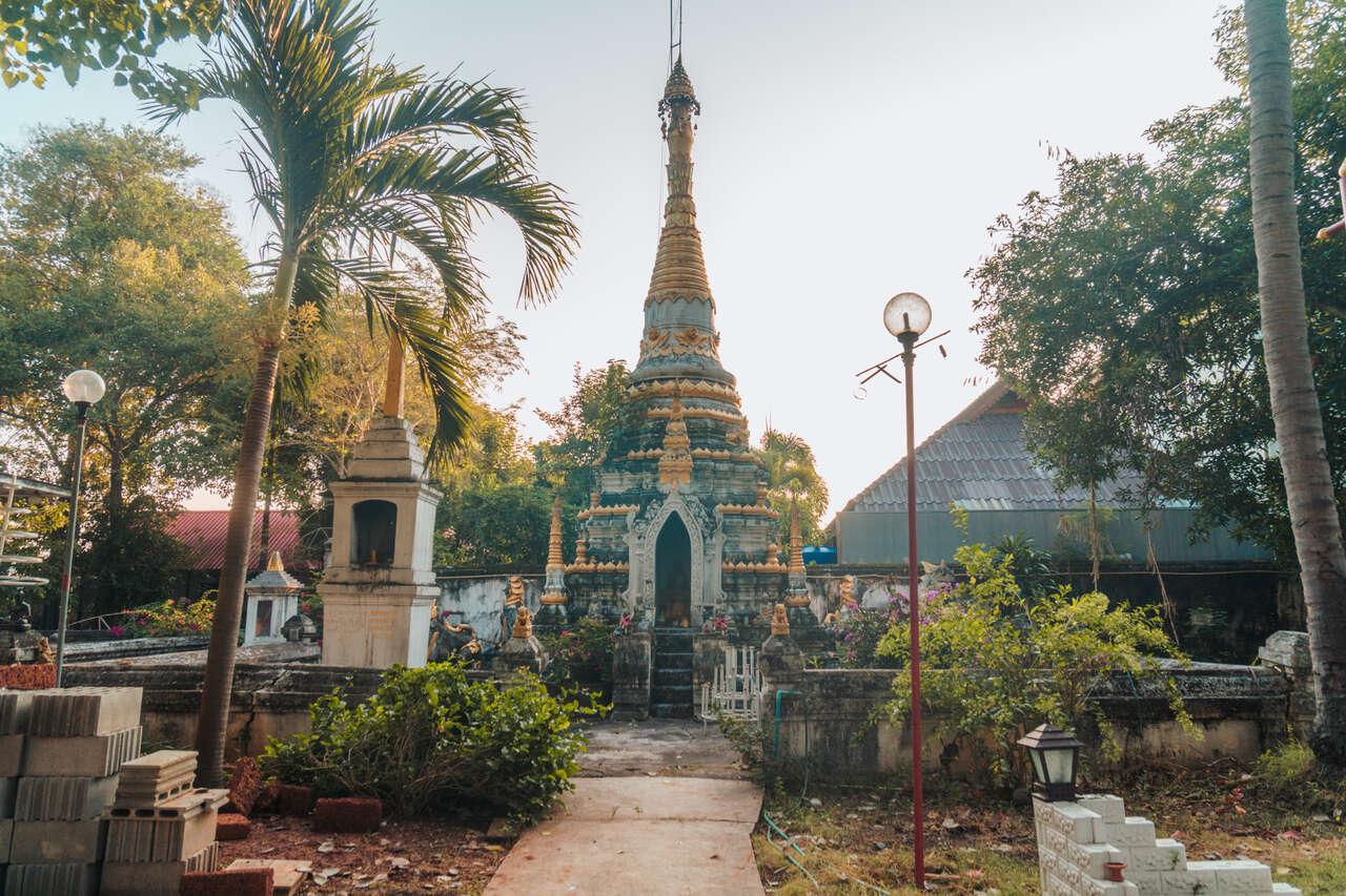 A Burmese style chedi in Wat Si Rongmuang in Lampang, Thailand.