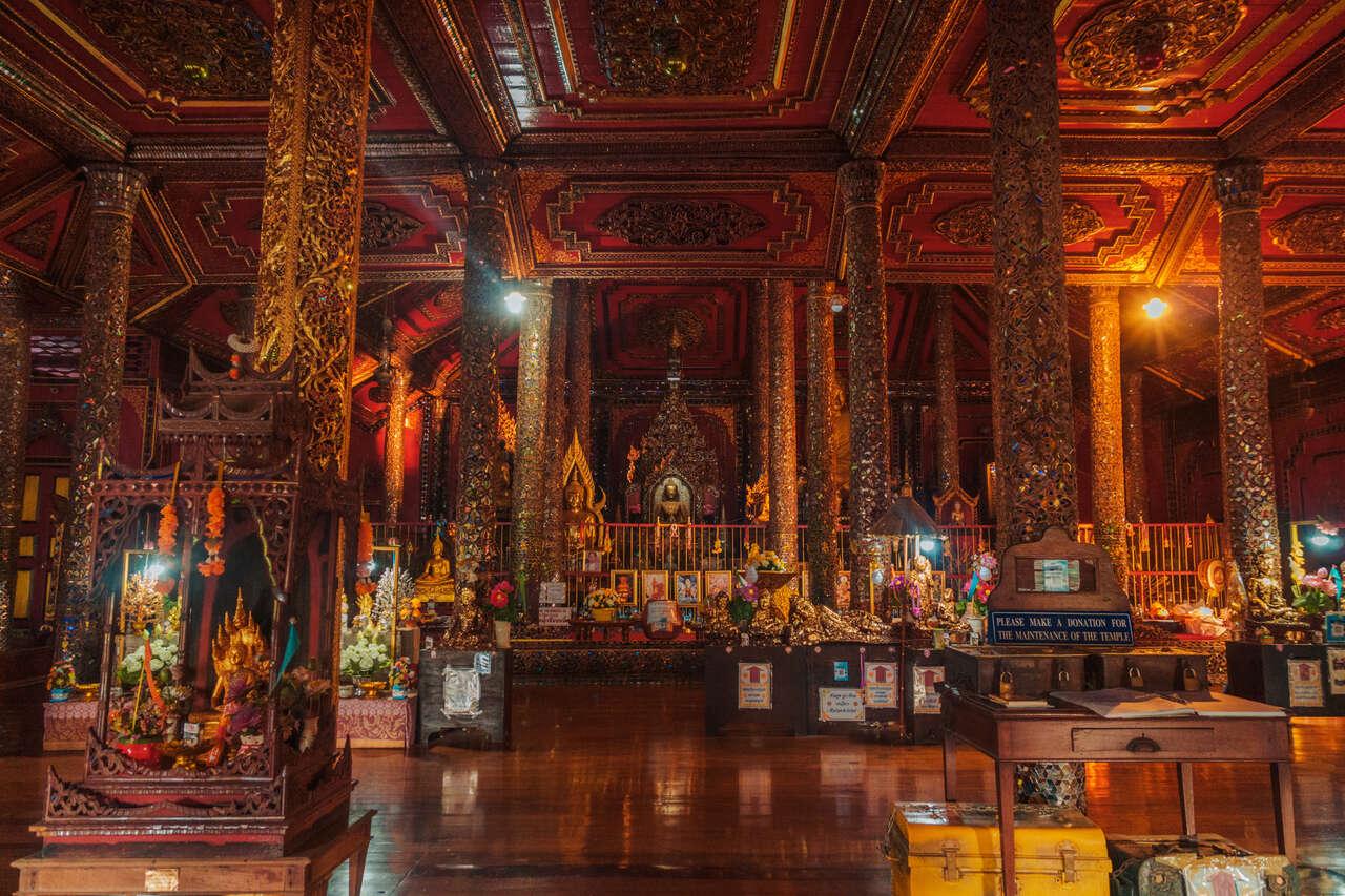 The interior of Wat Si Rongmuang in Lampang, Thailand