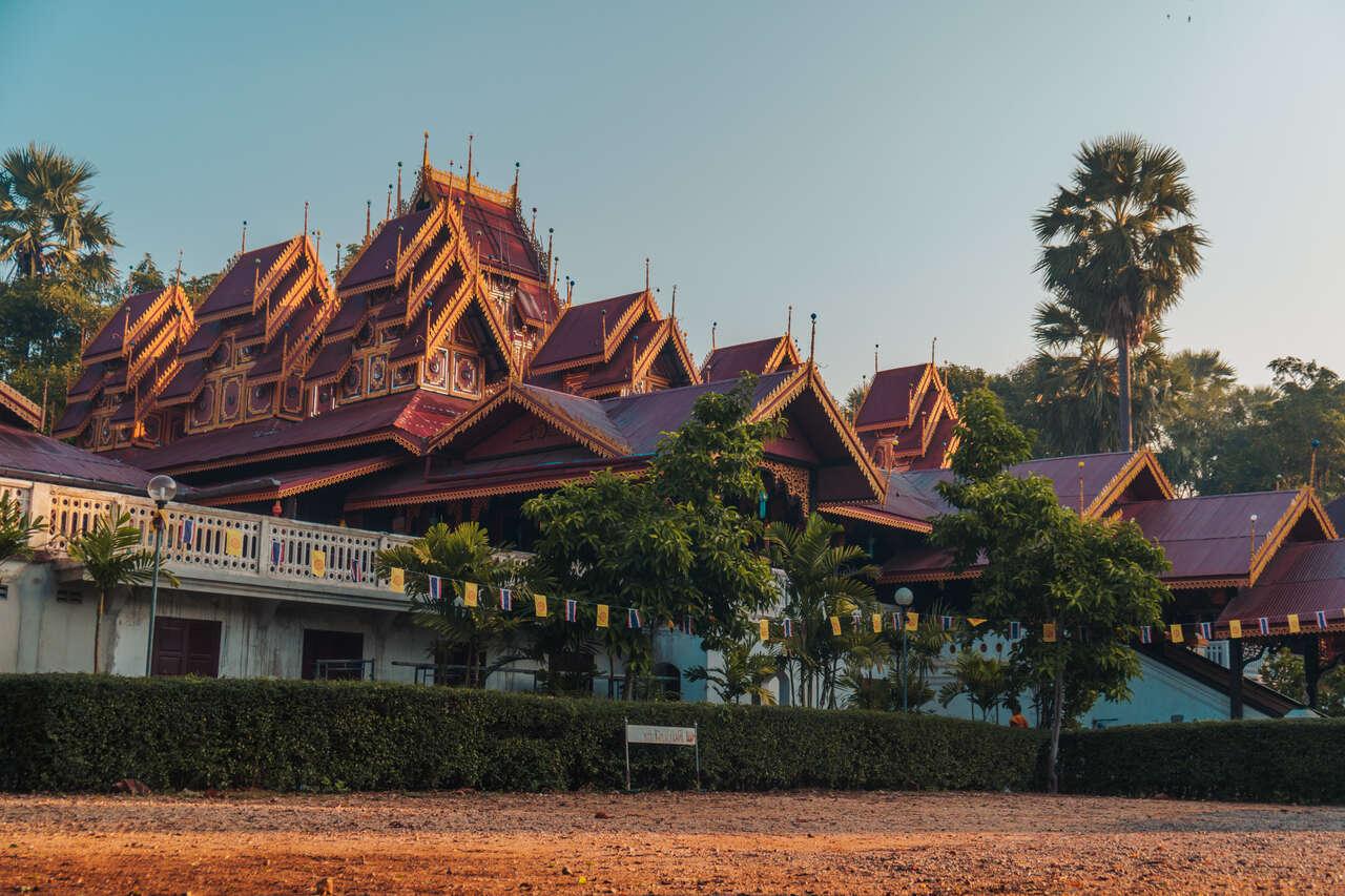 The exterior of Wat Si Rongmuang in Lampang, Thailand