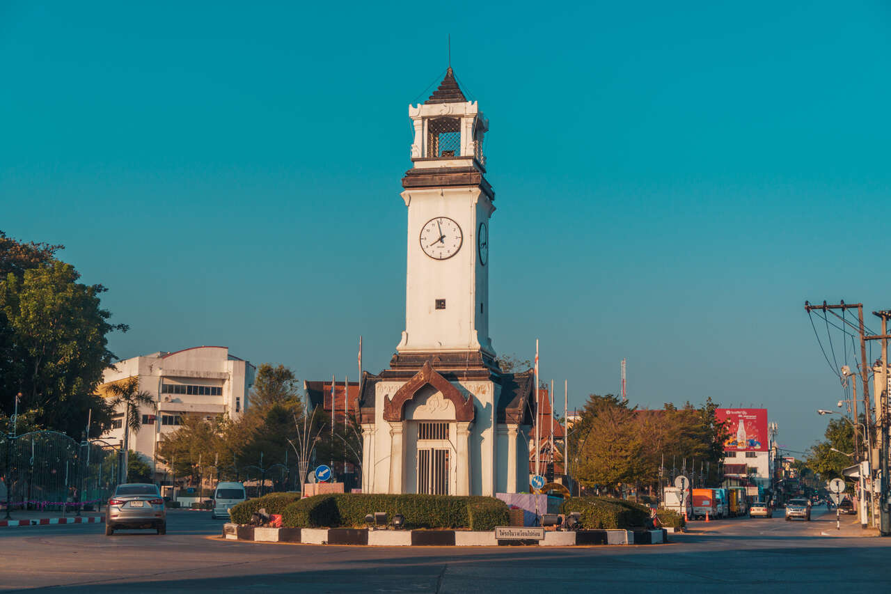The clock tower in Lampang, Thailand