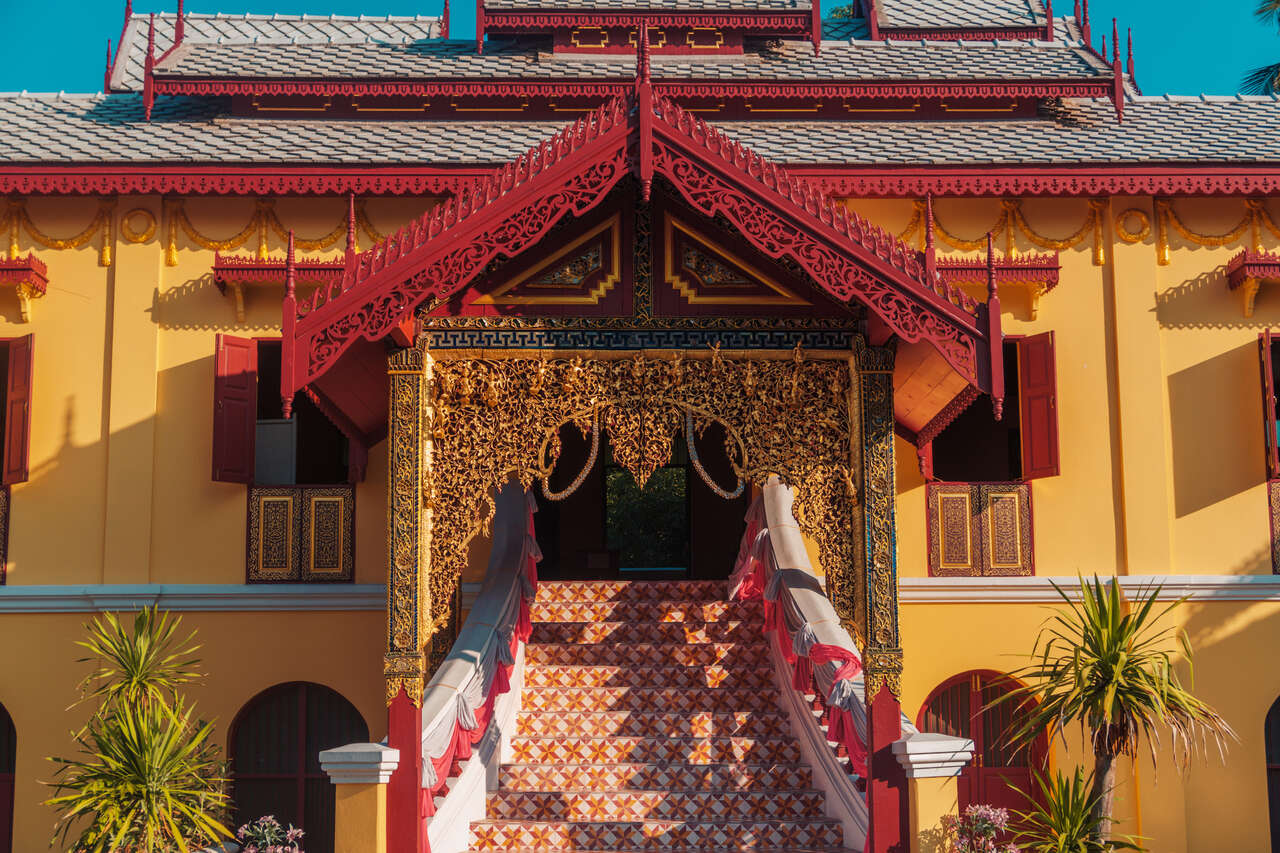 The gate of Wat Srichum in Lampang, Thailand.