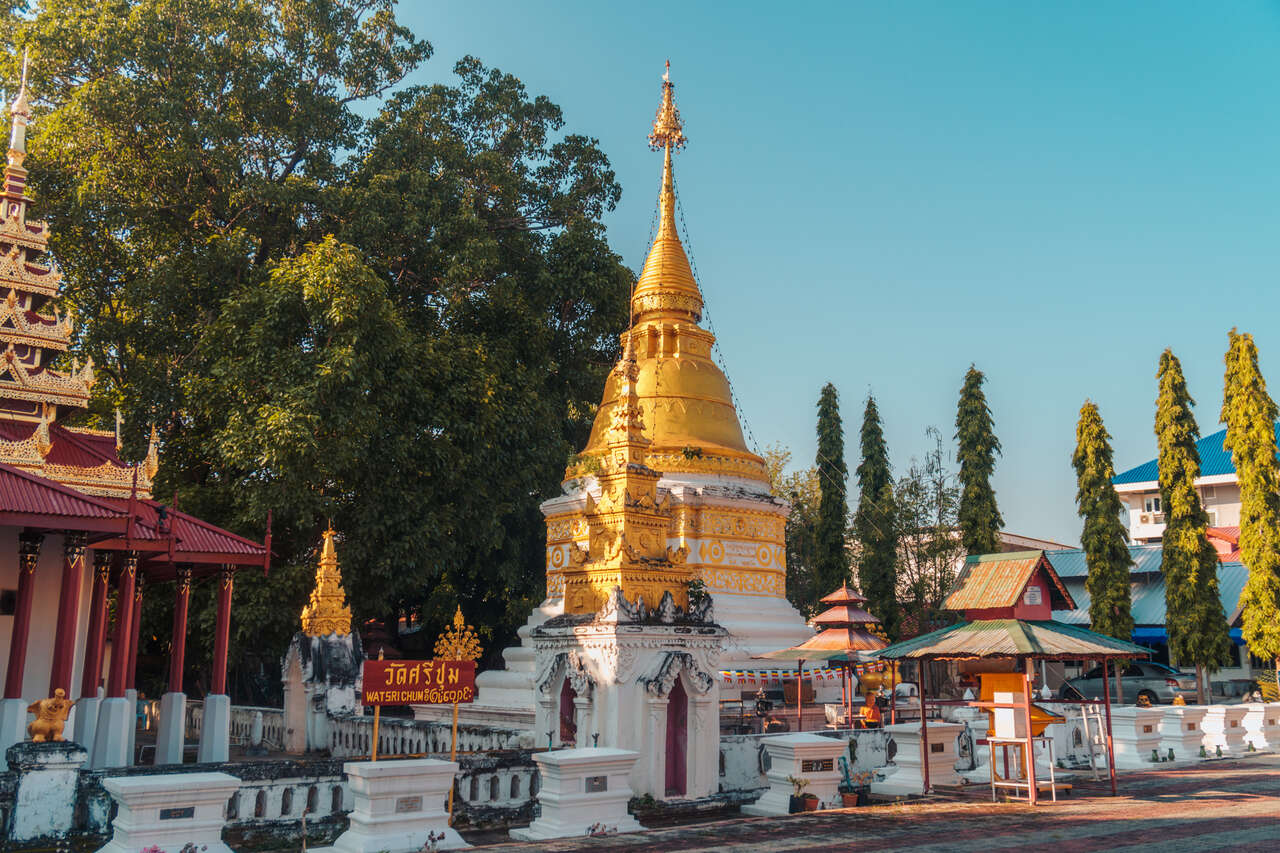 A chedi in side Wat Srichum in Lampang, Thailand