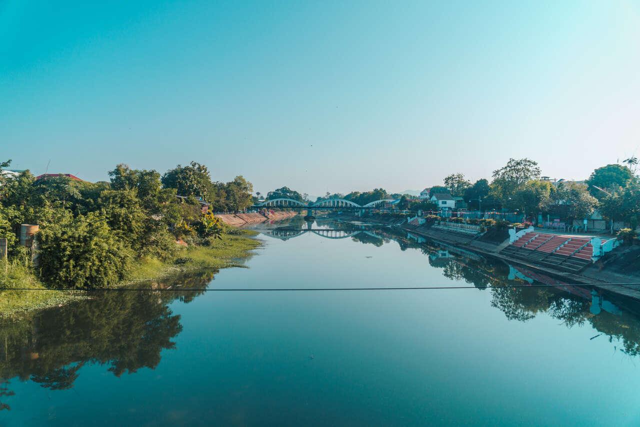 The Wang River in Lampang, Thailand