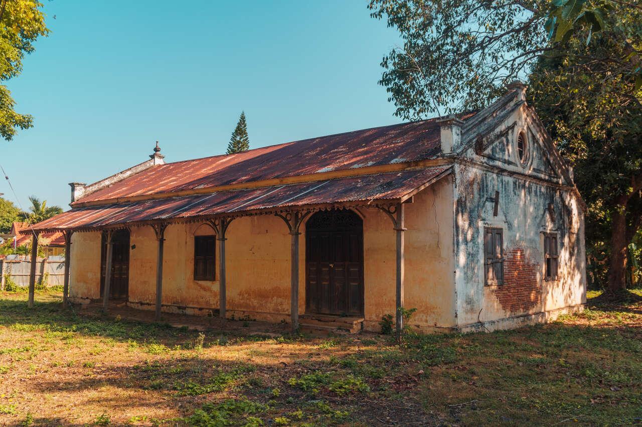 An old house at Baan Louise in Lampang, Thailand.