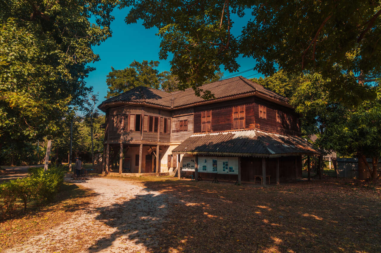 The exterior of Baan Louise in Lampang, Thailand