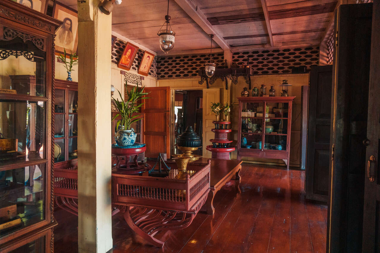 The common area of Baan Sao Nak in Lampang, Thailand.