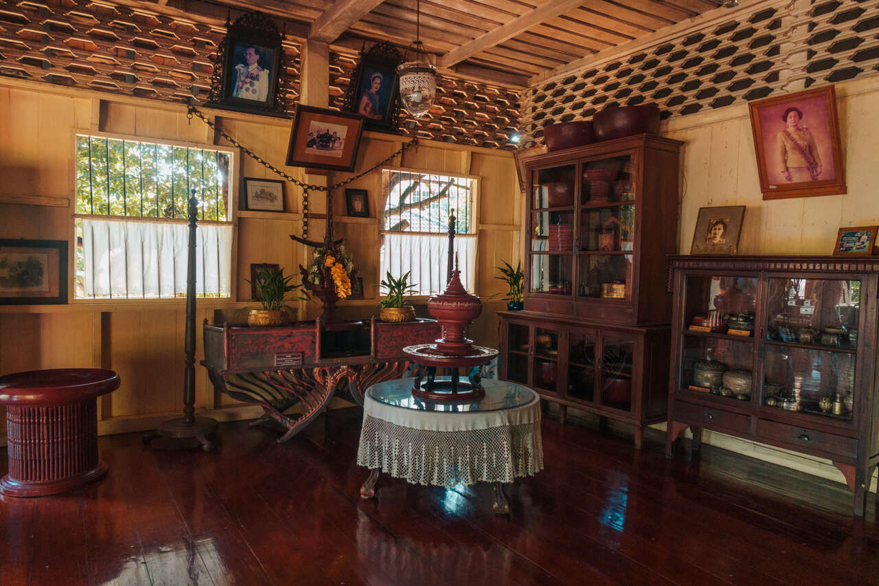 The interior of Baan Sao Nak in Lampang, Thailand.