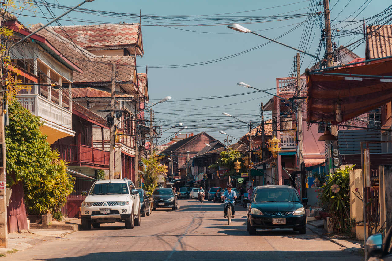The Old Town Street of Lampang, Thailand