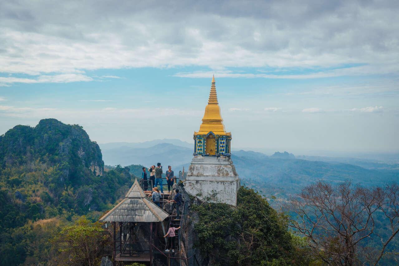 A cloudy day at Wat Chaloem Phra Kiat in Lampang, Thailand.