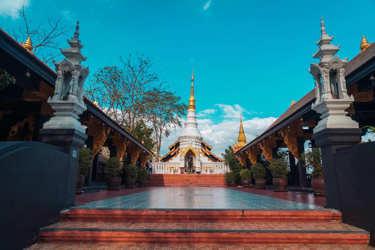The area around Wat Doi Prachan in Lampang, Thailand.