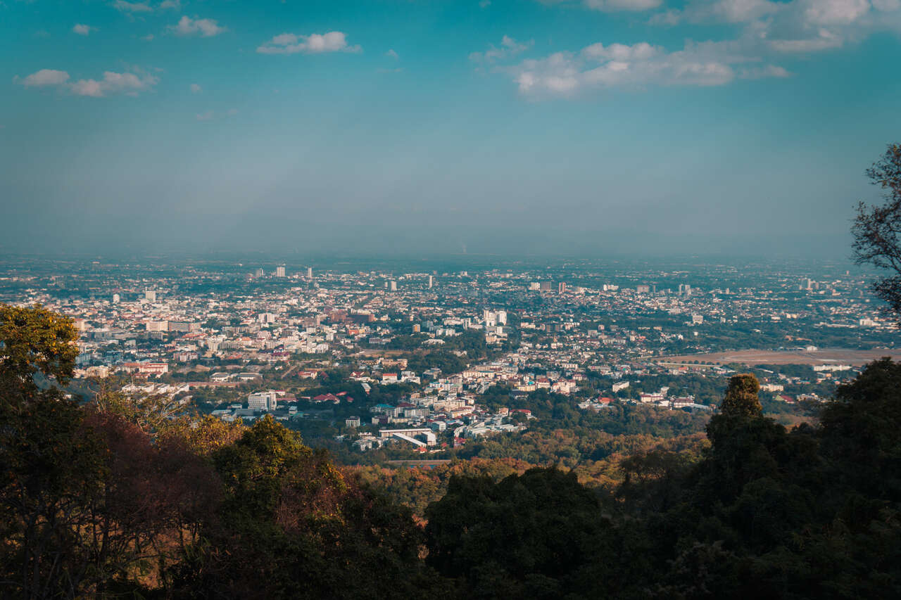 Chiang Mai city from Doi Suthep in Thailand.