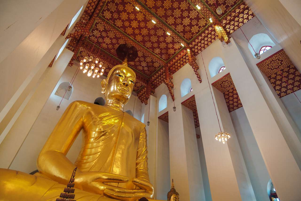 The seated Buddha image at Wat Chaiyo Worawihan in Ang Thong.